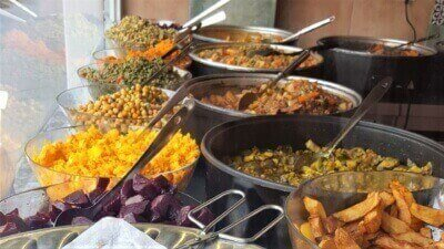 Teil 1 der Speisenauswahl Mezem Catering