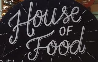 Hinweisschild House of Food 2018