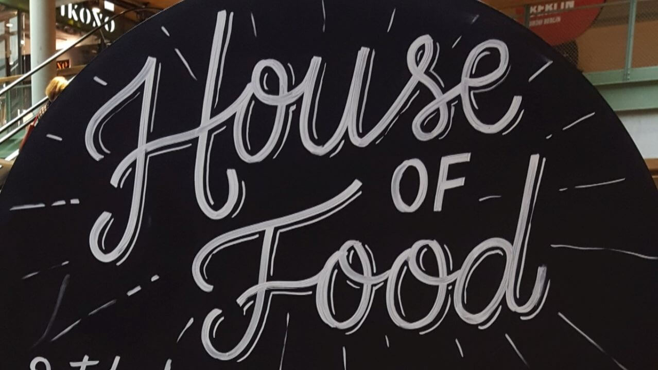 Hinweisschild House of Food 2018