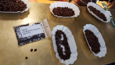 Bohnensorten für Espresso Verkostung