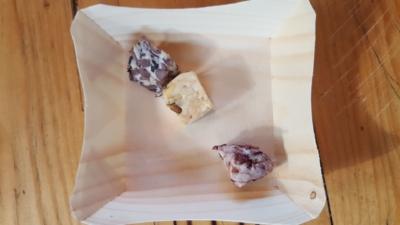 Tempeh Varianten aus Soya, Kidneybohnen, Schwarze Bohnen und Reis