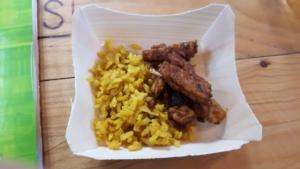 Tempeh aus schwarzen Bohnen und Reis