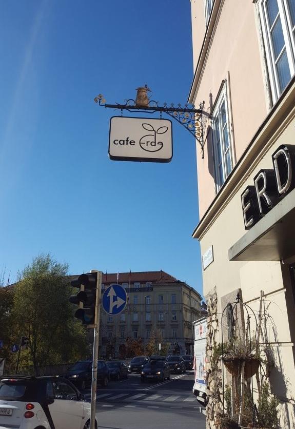 Café Erde Graz. Veganes Restaurant.