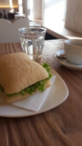 Tribeka ciabatta and coffee - eating out in Graz special