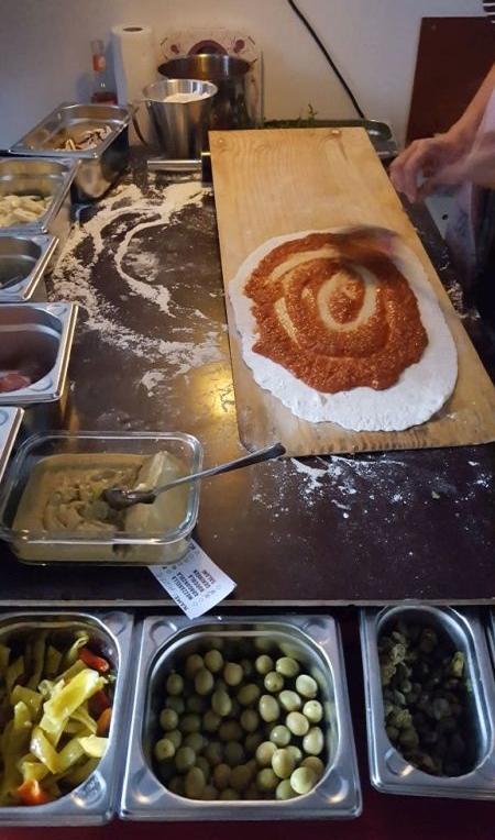 Art & Pizza Zubereitung