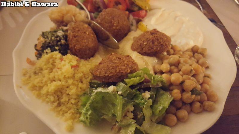 Habibi & Hawara gemischter Vorspeisenteller