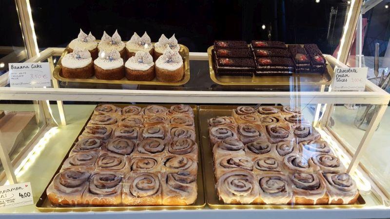 Mansfield Park Cinnamon buns am Breakfast Market in der Markthalle Neun