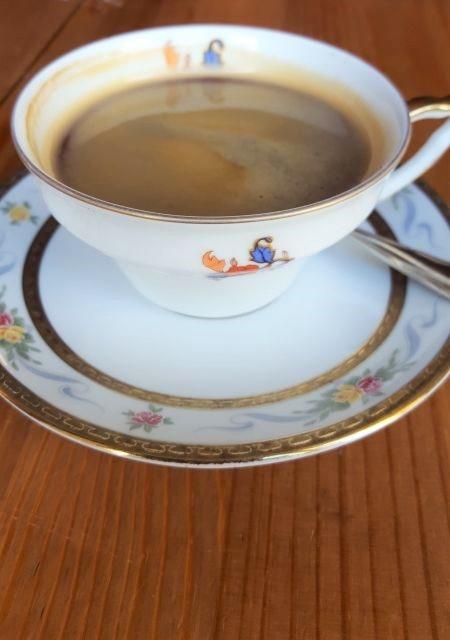 Kaffee Tasting. Tasse schwarzer Kaffee.