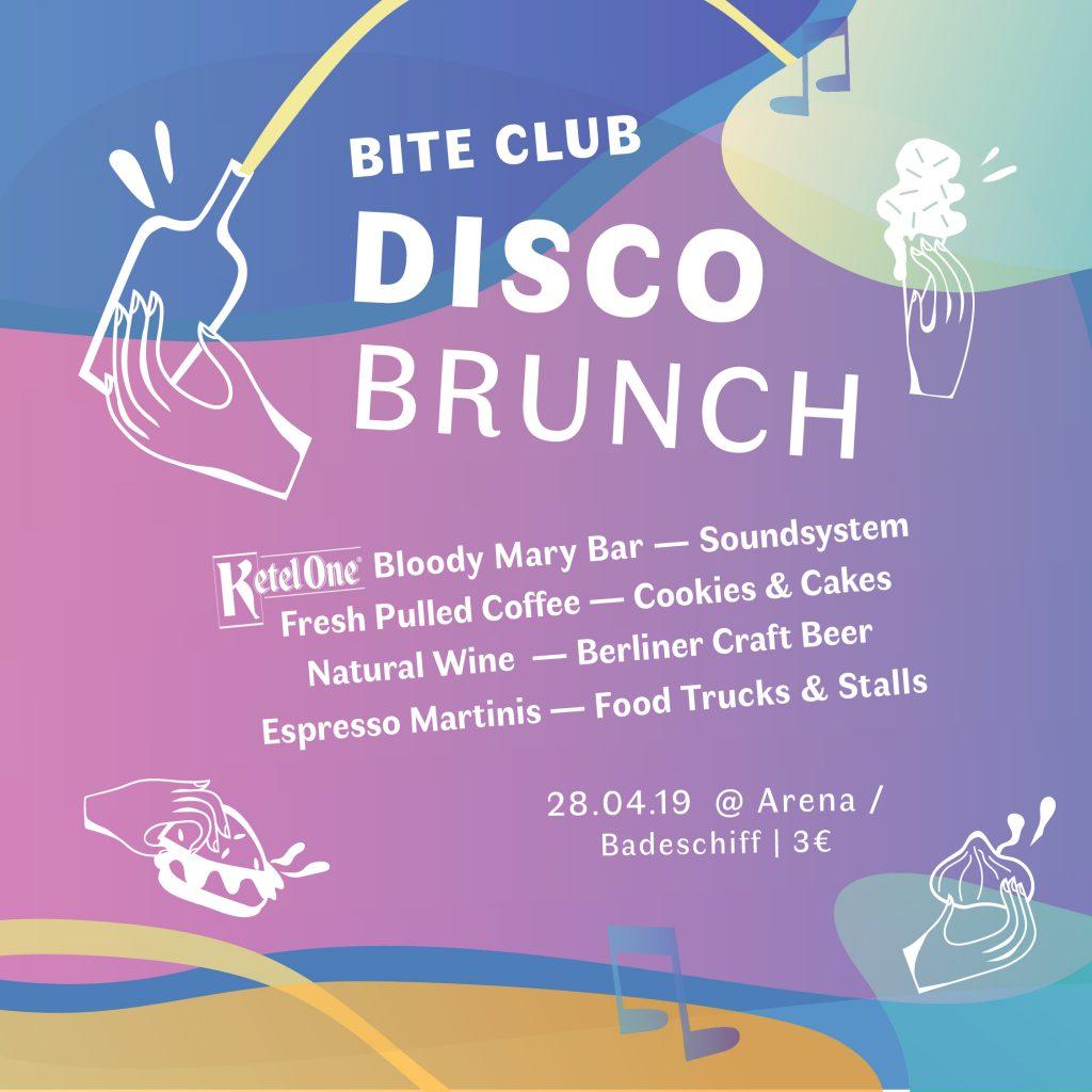 Disco Brunch 2019. Invitation flyer.