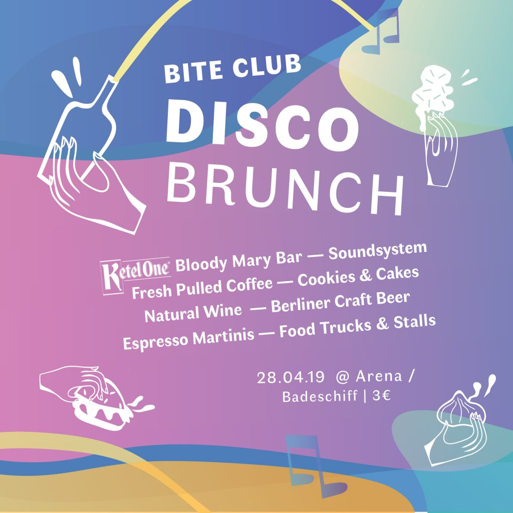 Disco Brunch 2019. Einladungsflyer.