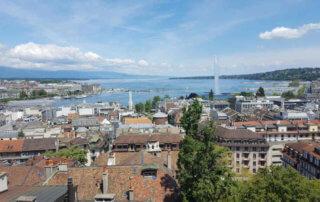 Blick zum Genfer See