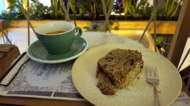 The Greens coffee and cake