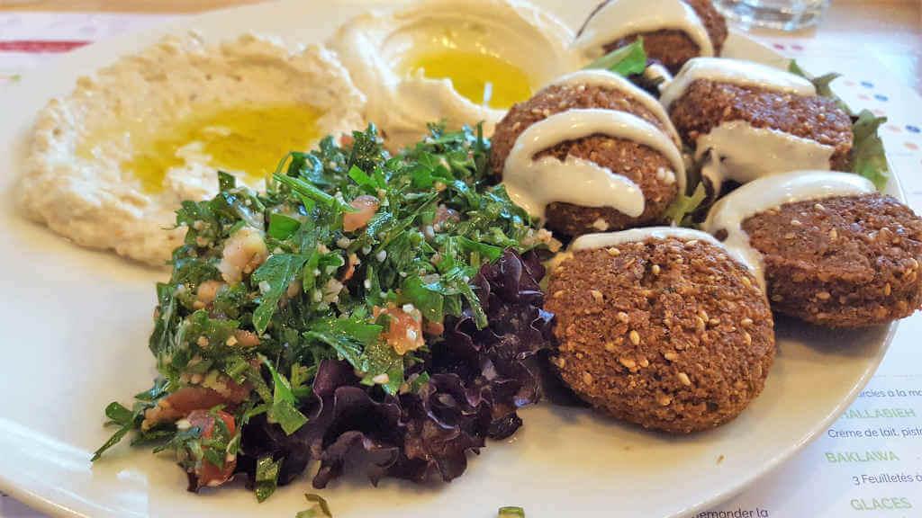 Street Beirut falafel plate