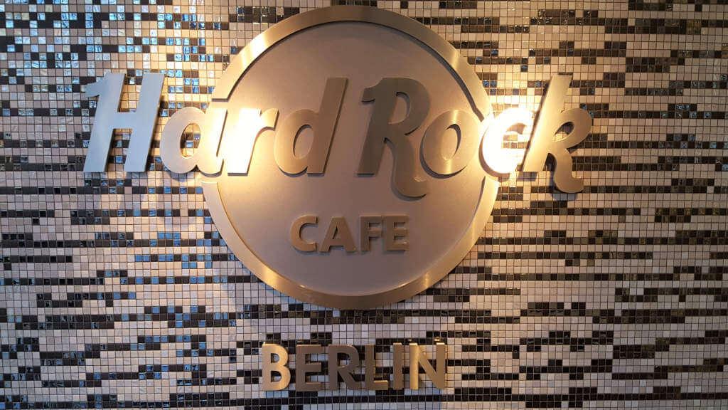 Hard Rock Cafe Wall Sign