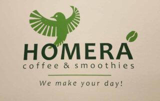 Homera coffee & smoothies wall sign