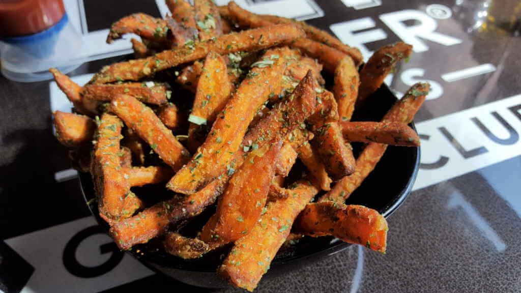 Lily Burger sweet potato fries
