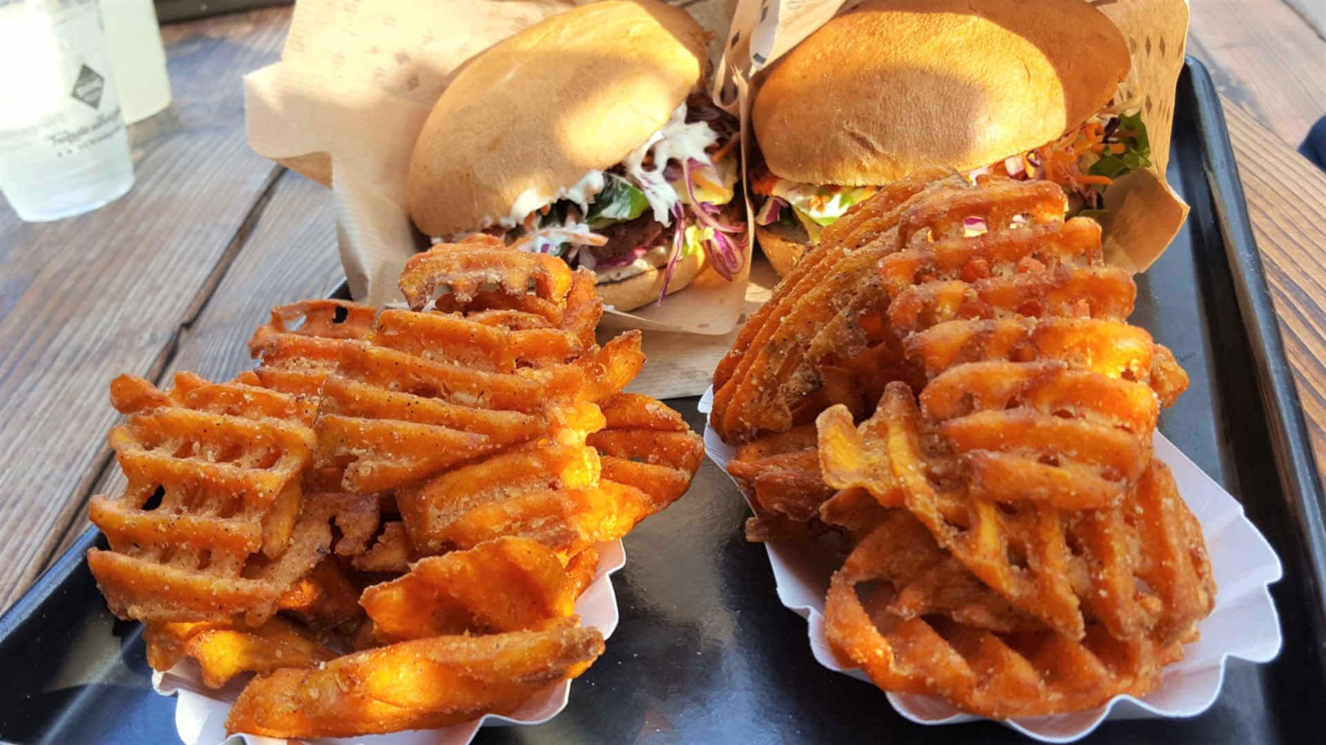 Swing Kitchen Burger + Sweet Potato Fries