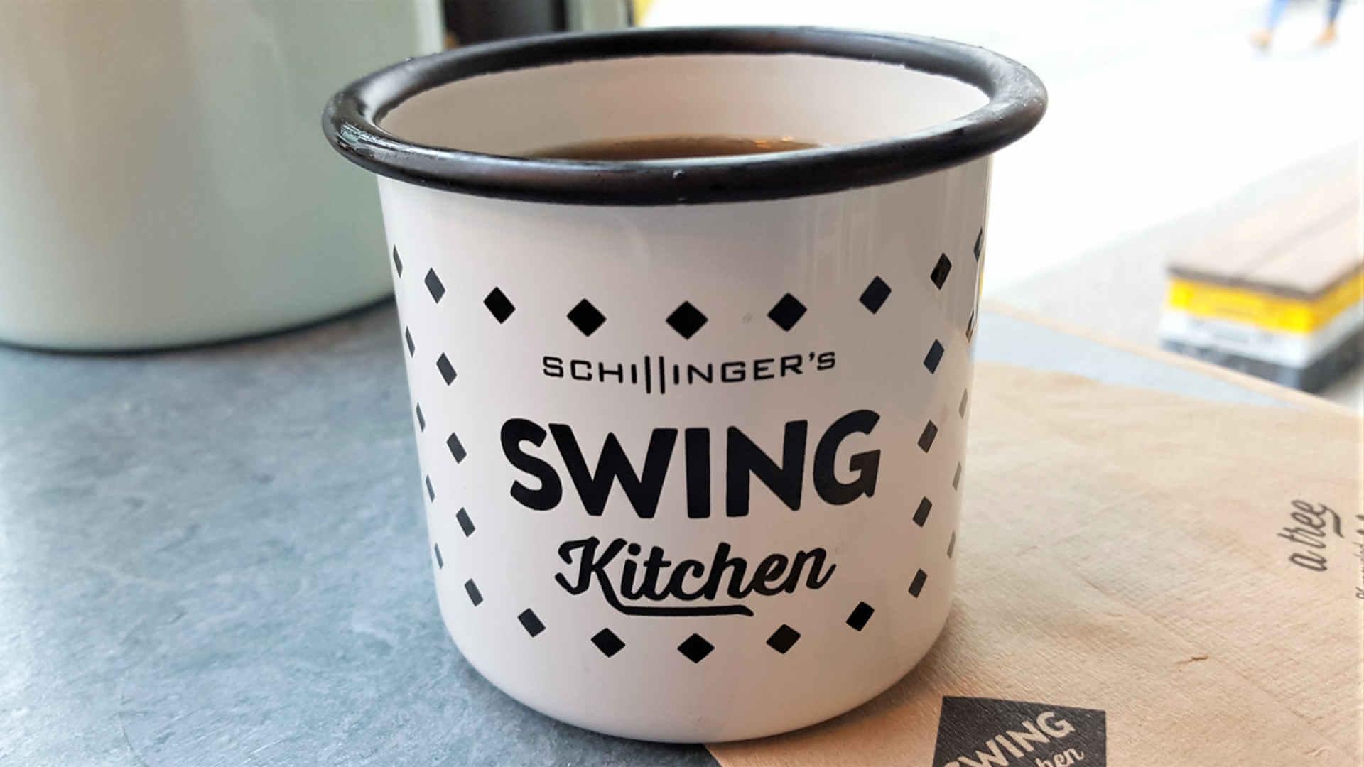 Swing Kitchen Enamel Cup - Burger Special Berlin