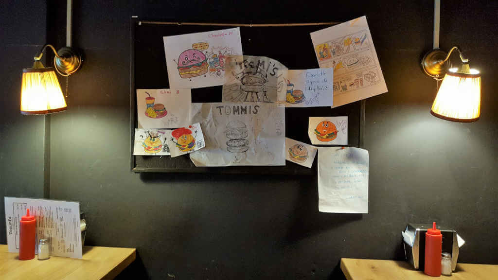 Tommi's Burger Joint drawings from children