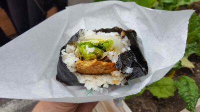 Rice Burger mit Tempe von Kame