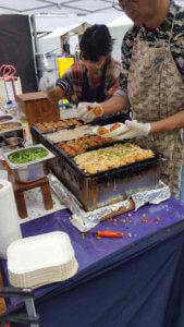 Takoyaki preparation
