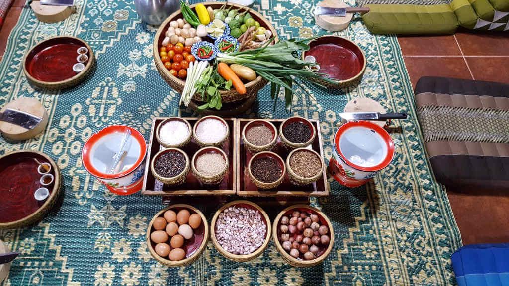 Zutaten Kochkurs Chiang Mai