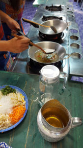 Royal Lanna Thai Cooking School Cooking area