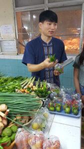 With Song at Tha-nin Market