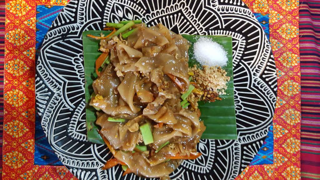 Royal Lanna Thai Cooking School. Pad See Ew.