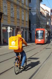 Lieferservice Graz - Lieferando Fahrer Murgasse