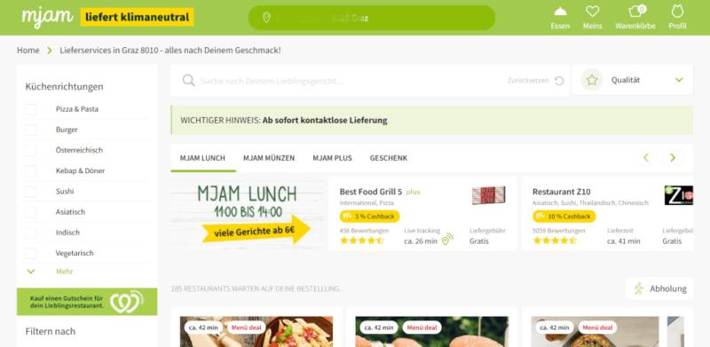 Mjam Restaurant Overview