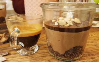Zero Waste Cooking Class dessert and espresso