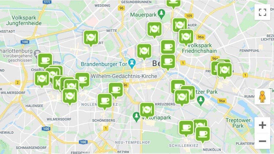 Vegans And Friends - Map-Landkarte-Standortfinder-Beispiel