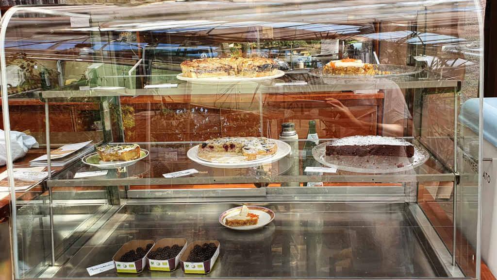 Kuchenvitrine Grünes Café