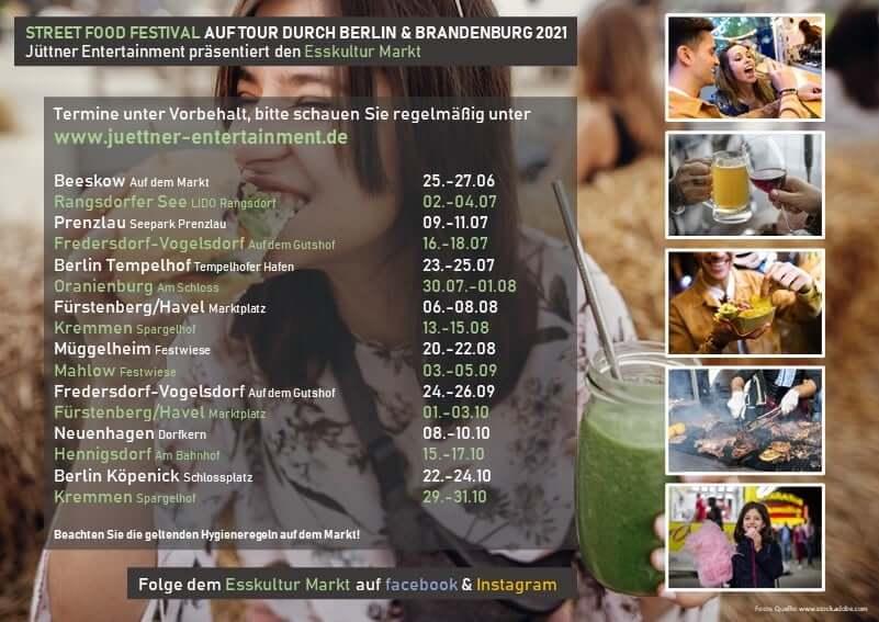 Street Food Festival Tourplan