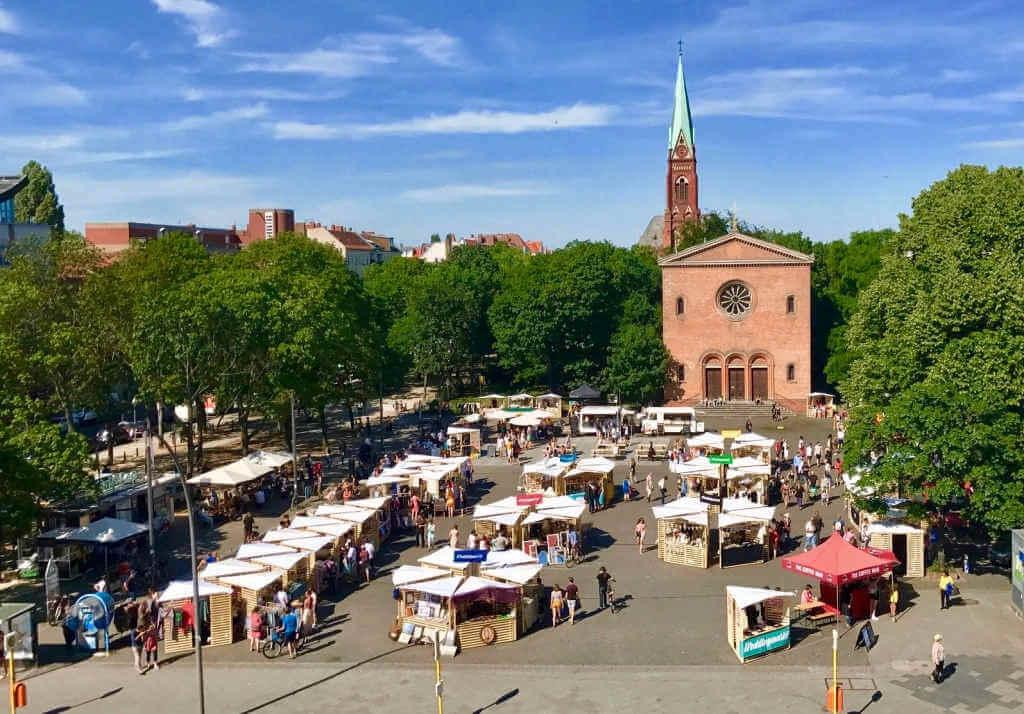 Weddingmarkt von oben Juni 2017 - Credit Anna Bilger